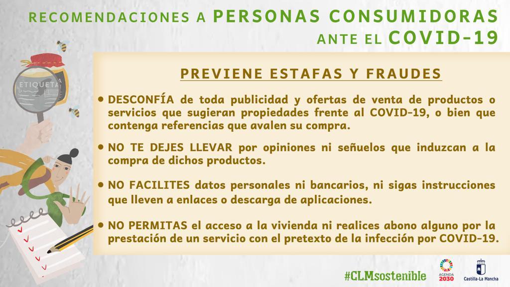 Prevención de estafas y fraudes Cov-19